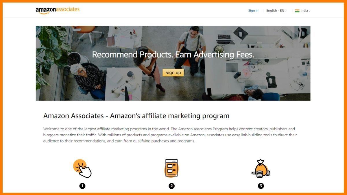 Amazon Associates Website