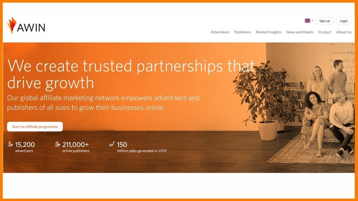Awin website
