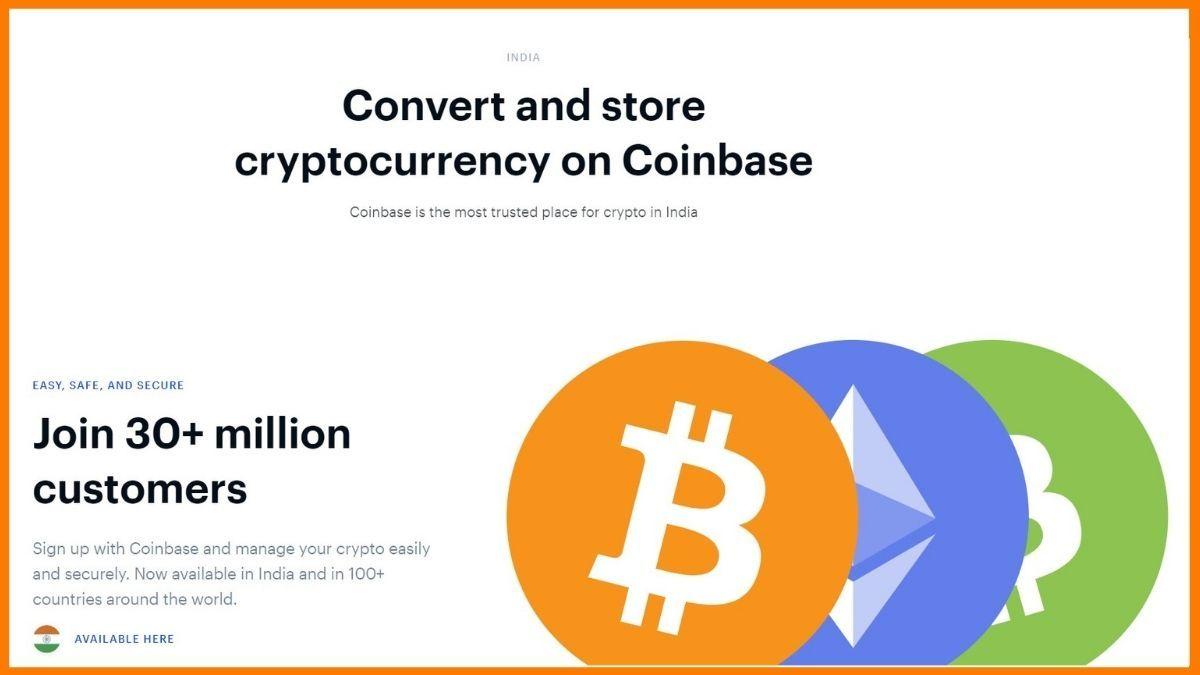 Coinbase India Website