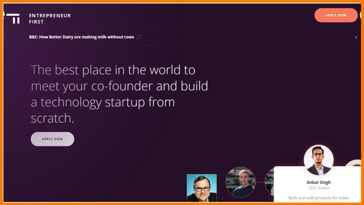 Entrepreneur First Website