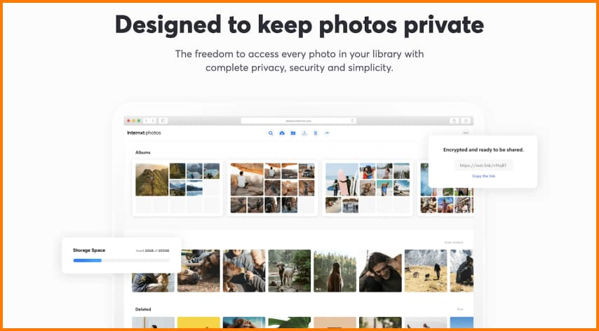 Internxt stores your photos securely