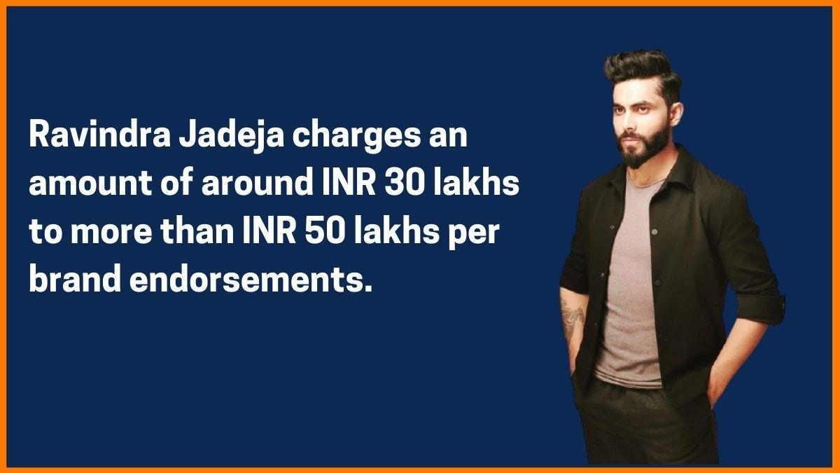 Ravindra Jadeja Endorsement Fee