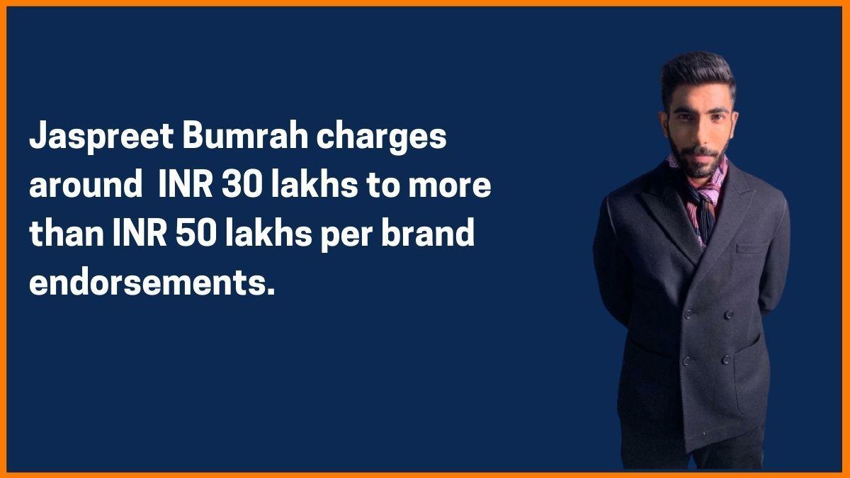 Jaspreet Bumrah Endorsement Fee
