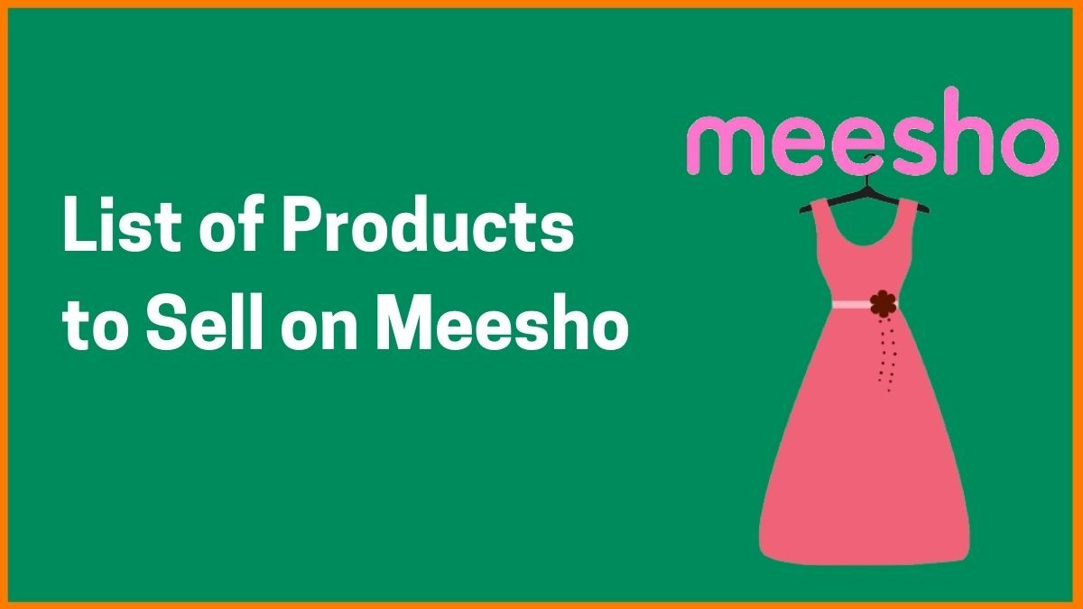List of Products you can Sell on Meesho