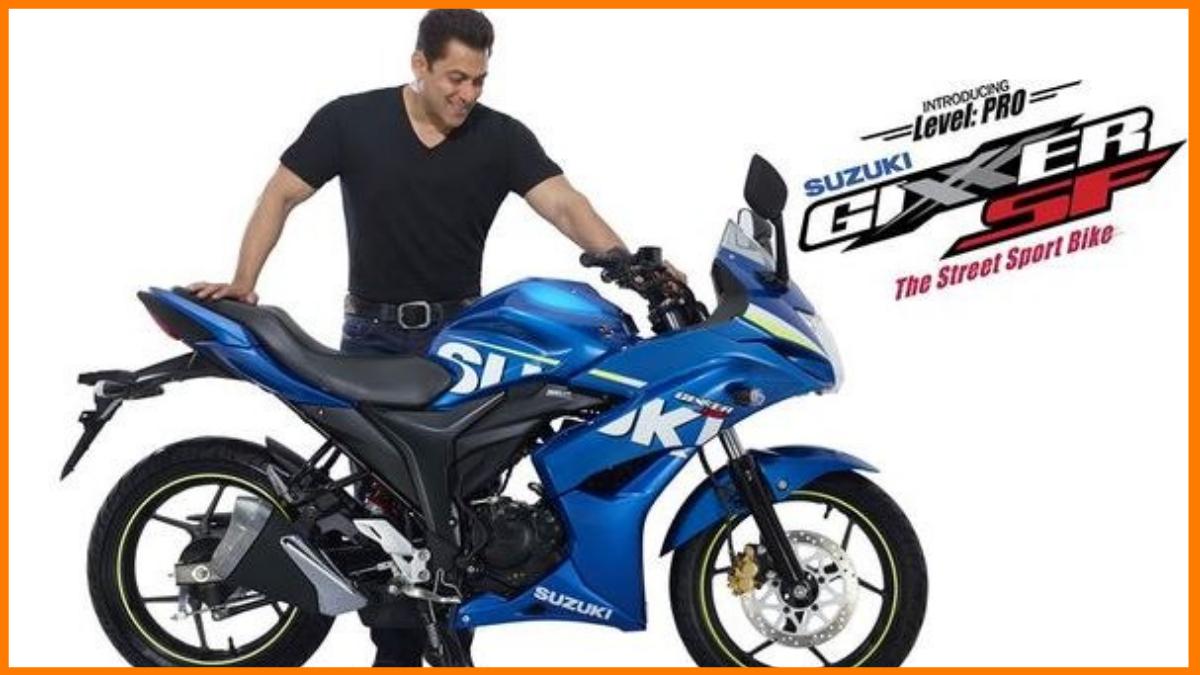 Salman endorsing Suzuki Motorcycles
