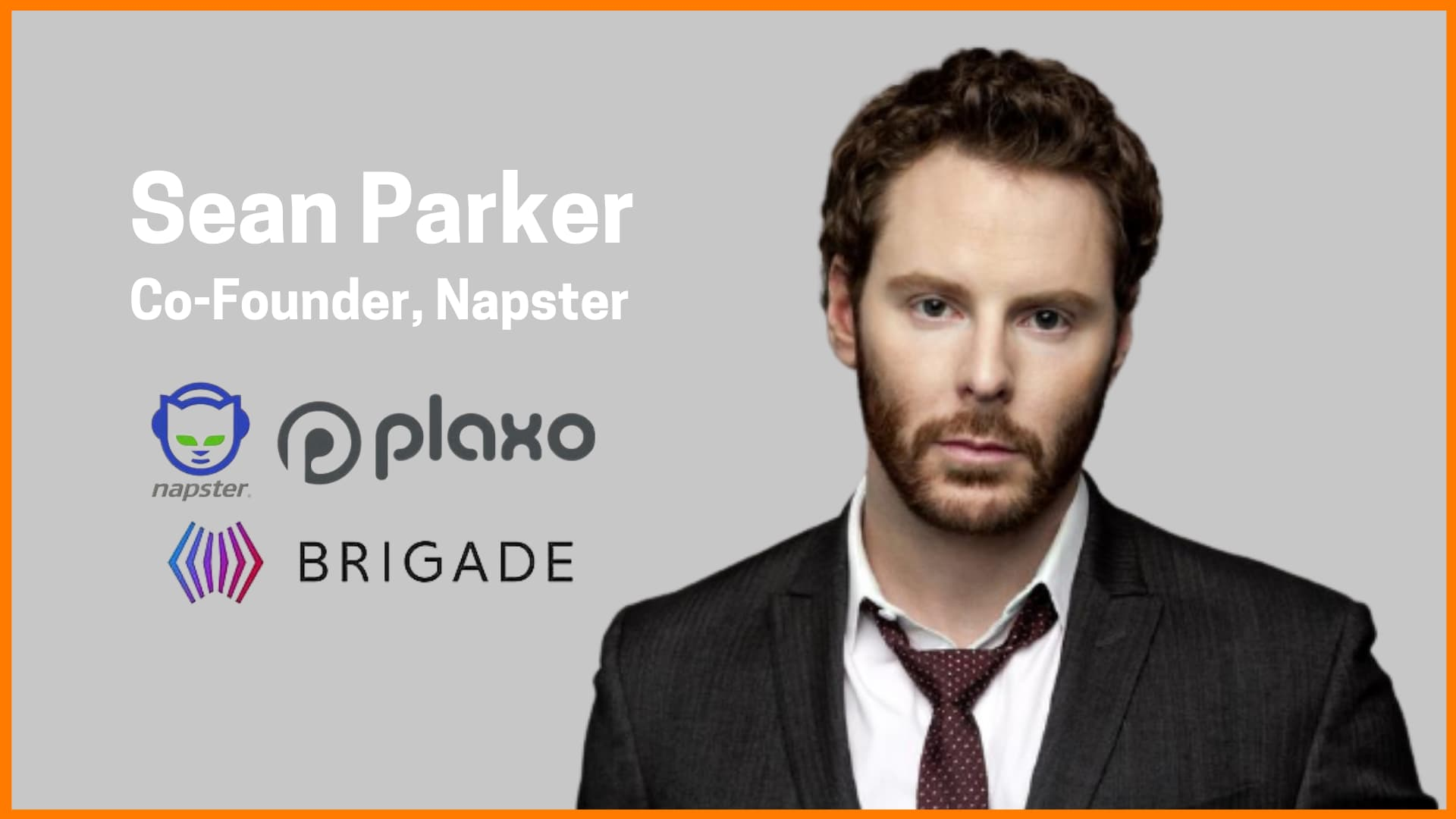 Meet Facebook's First President Sean Parker | Co-Founder of Napster