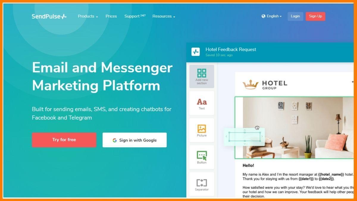Sendpulse Website sms marketing
