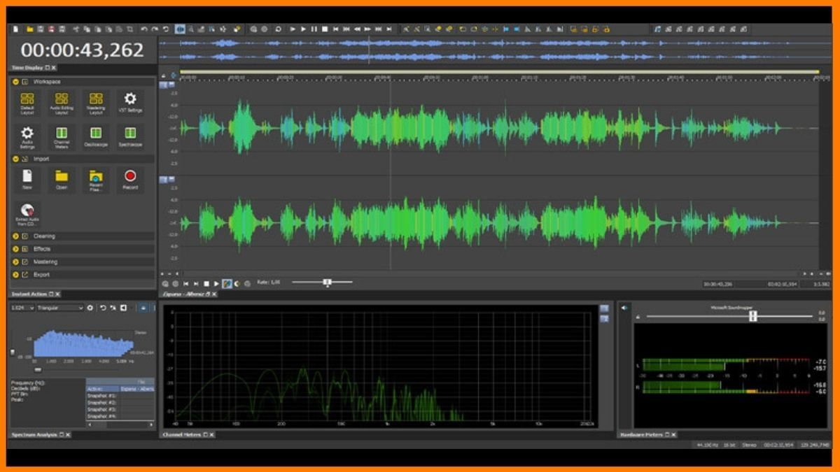 Sound forge audio editing software