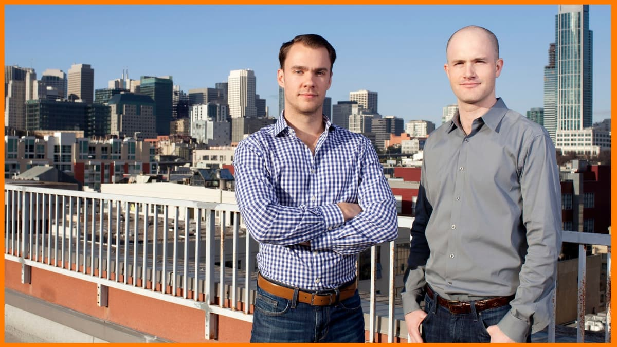 Founders of Coinbase - Brian Armstrong and Fred Ehrsam