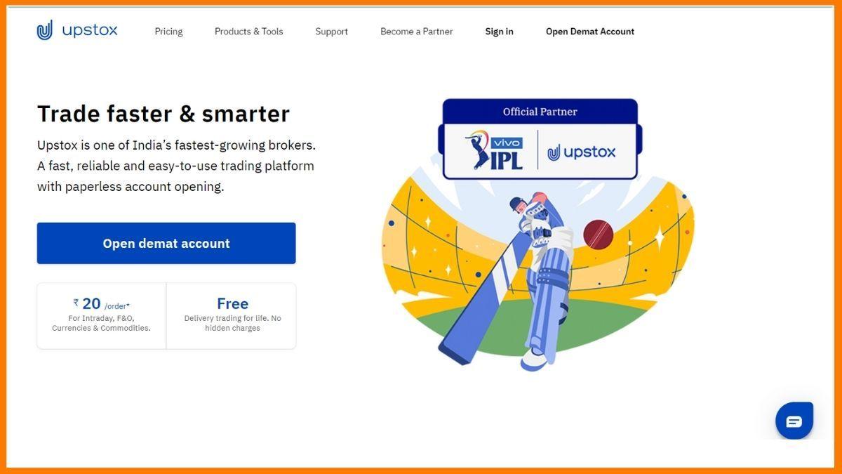 upstox pro Website