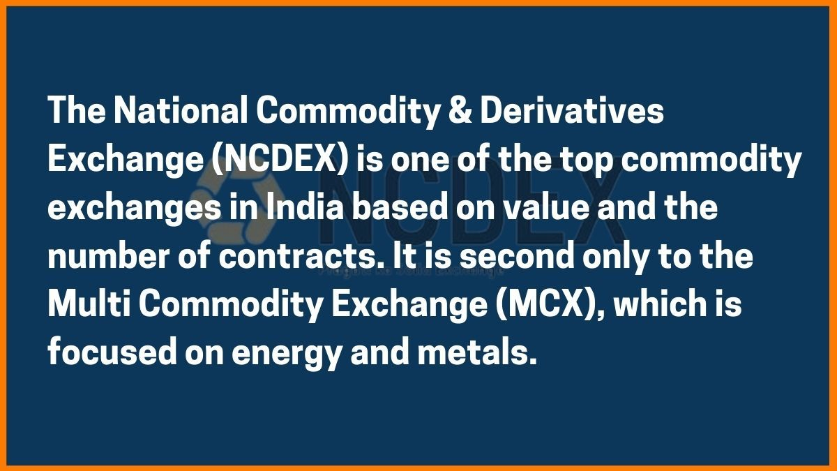 What is NCDEX
