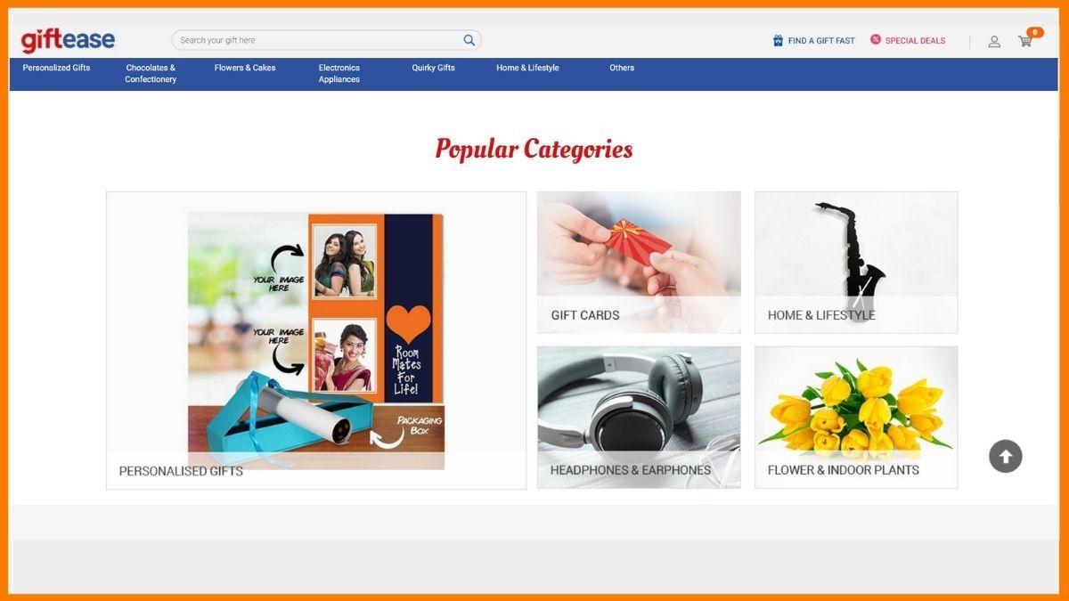 Giftease Website