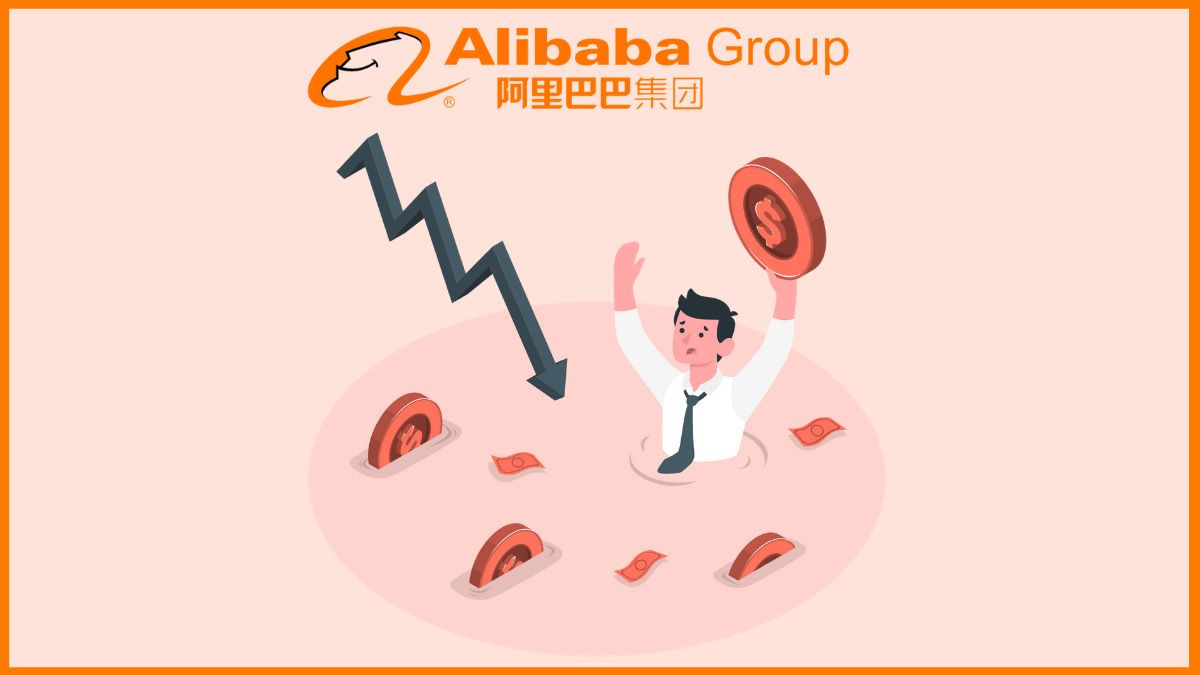 Why did Alibaba saw a loss for the first time in years?