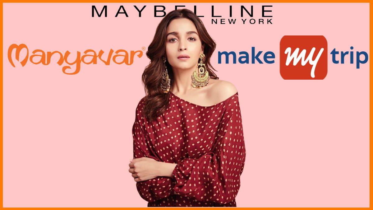 List of Brands Endorsed By Alia Bhatt