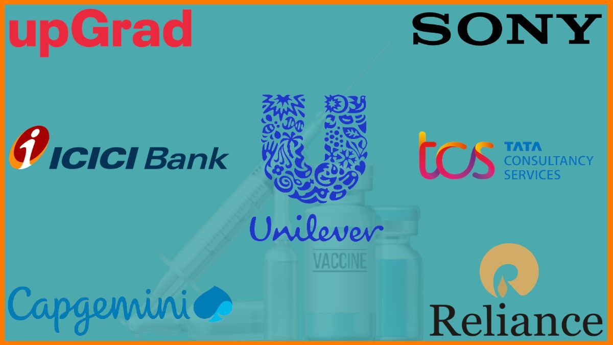 List of Indian Companies that are providing Covid vaccine to its Employees