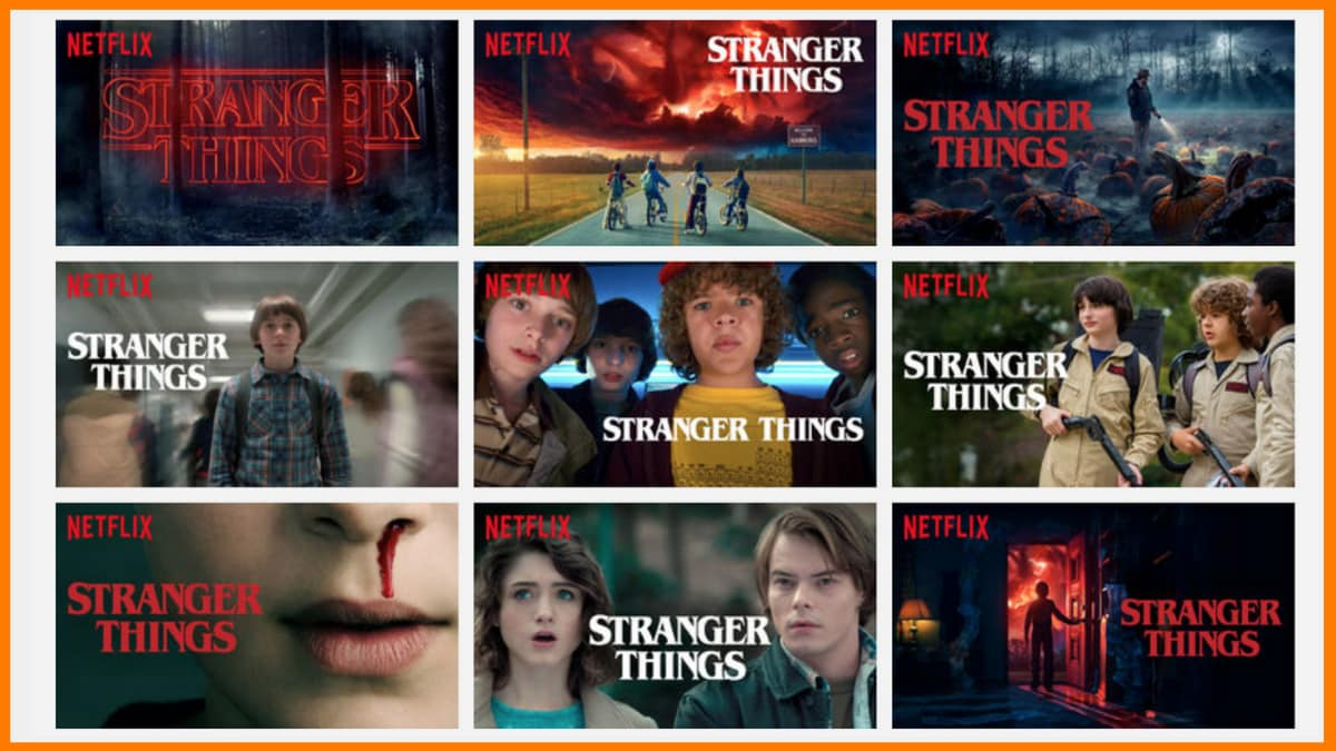 Netflix using Different imageries for the same show