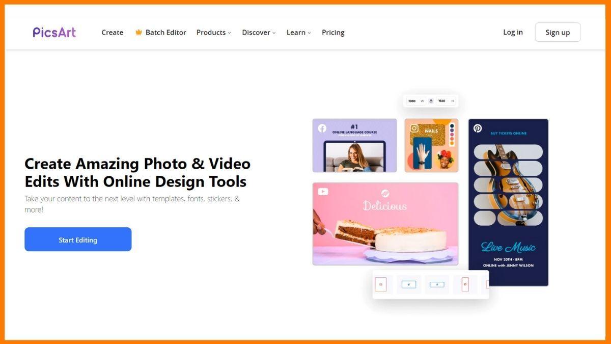 PicsArt Website