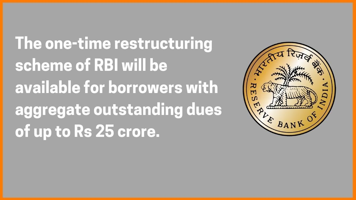RBI restructuring programme