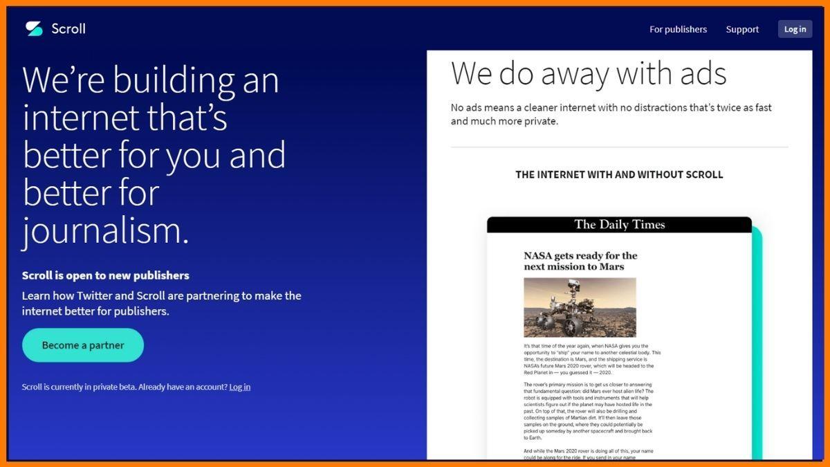 Scroll Website