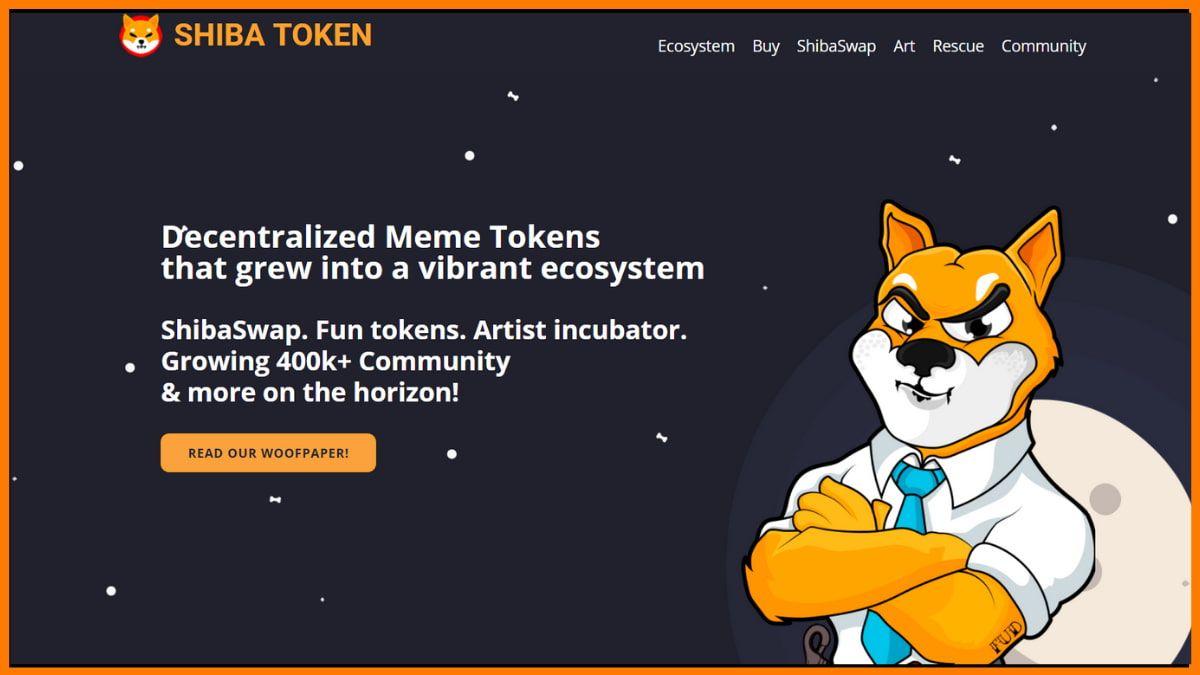 Shiba Inu Coin Website