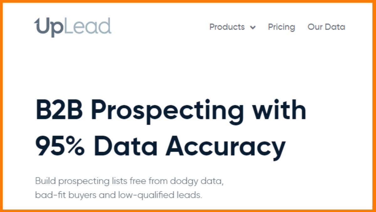 sales intelligence tool- UpLead