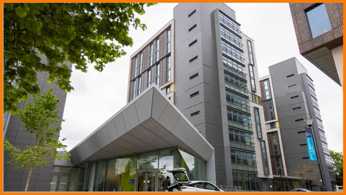The student accommodation tower used as a correspondence address for Elonspace Ltd. in West London