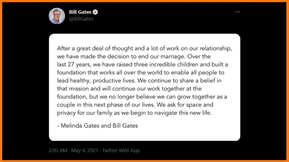 Bill Gates Tweet