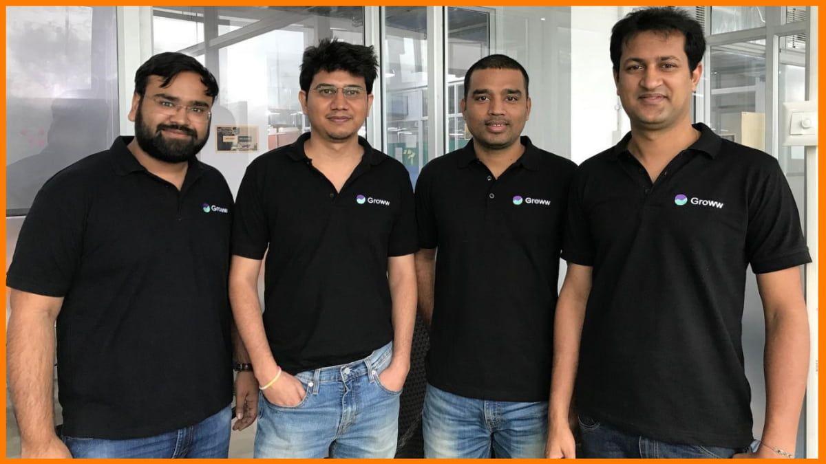 Founders of Groww -  Lalit Keshre, Harsh Jain, Neeraj Singh, and Ishan Bansal