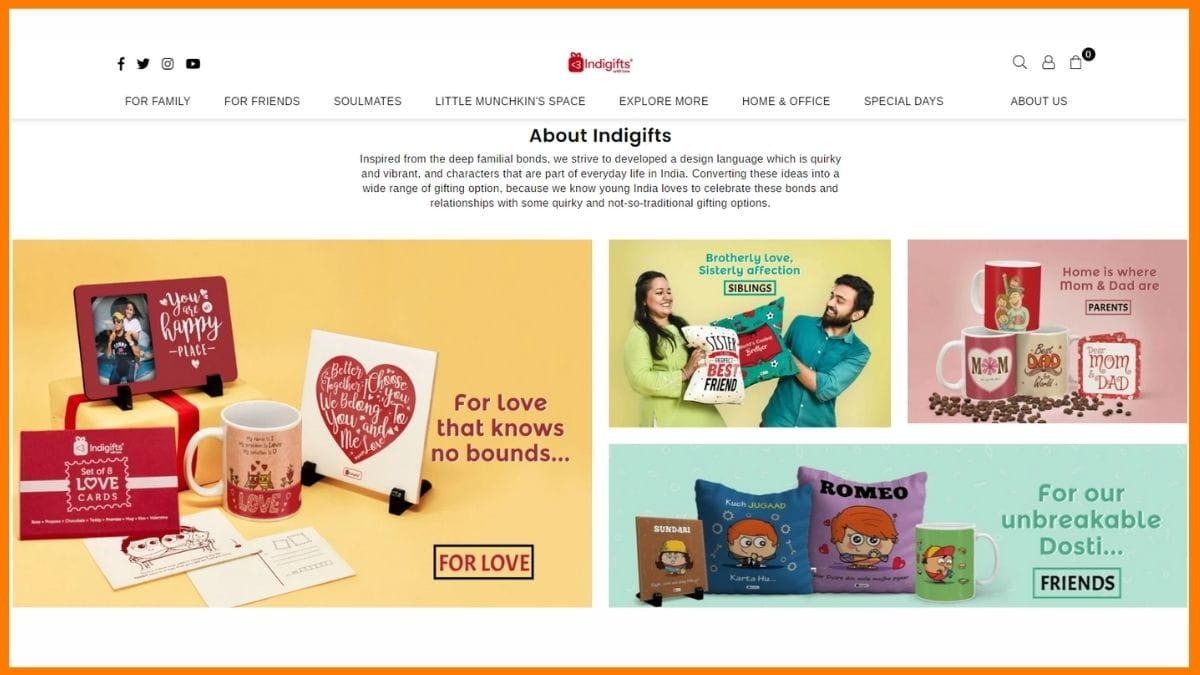 Indigifts Website