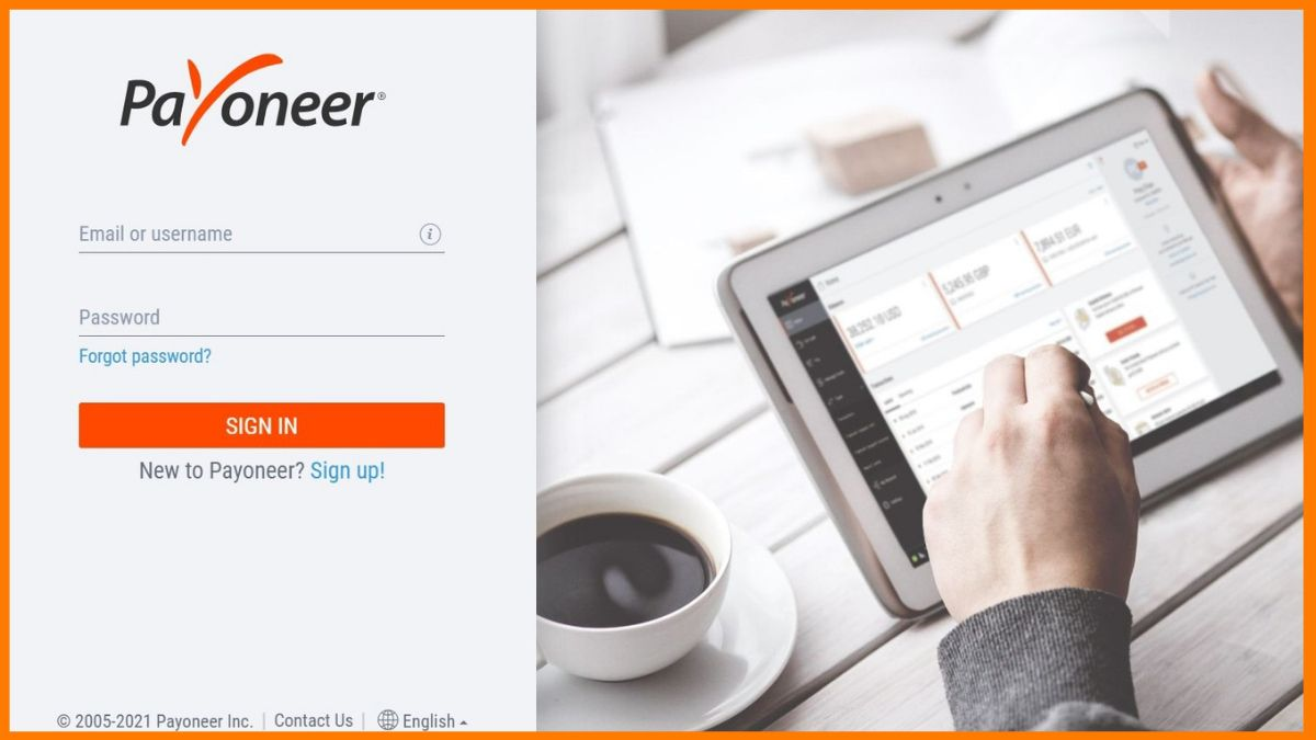 Payoneer Sing-in Page