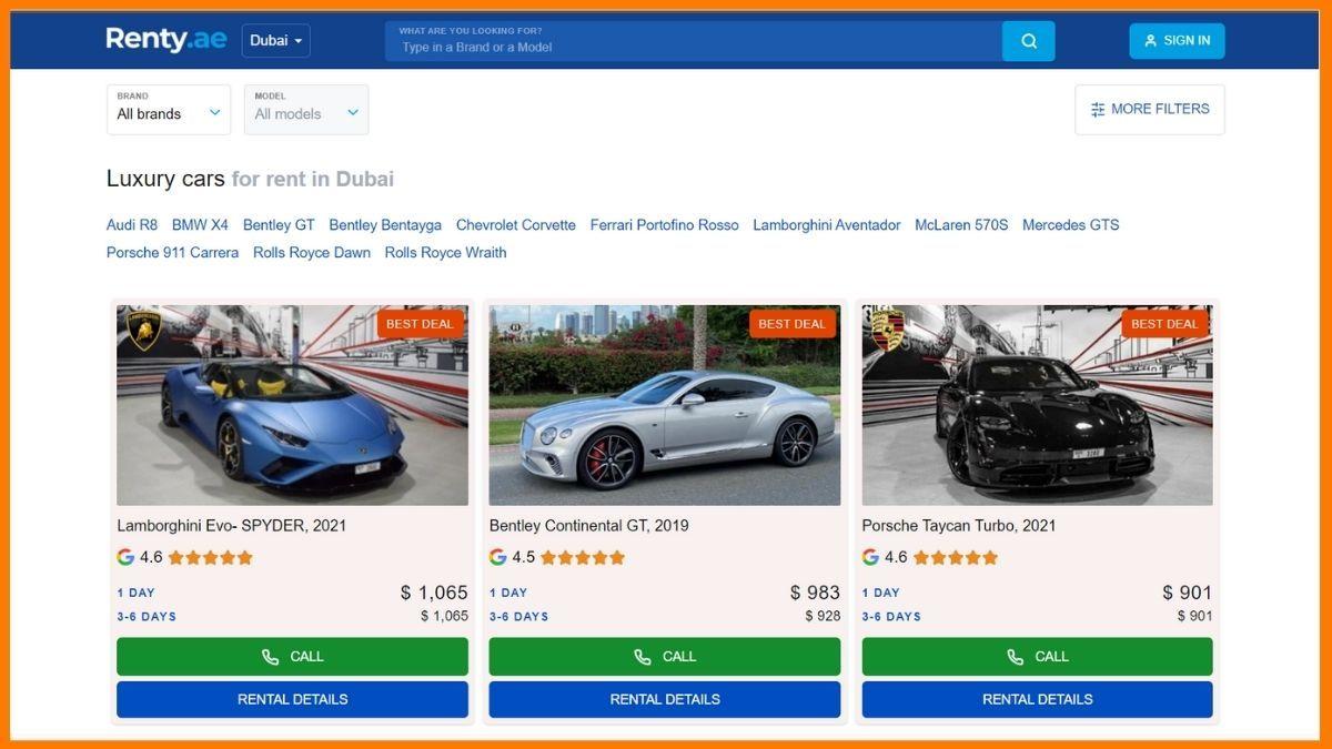Renty Website