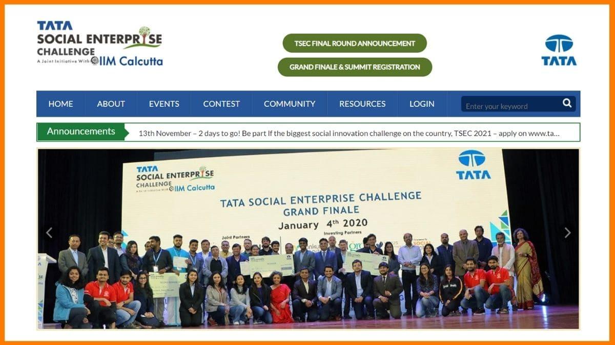Tata Social Enterprise Challenge Website