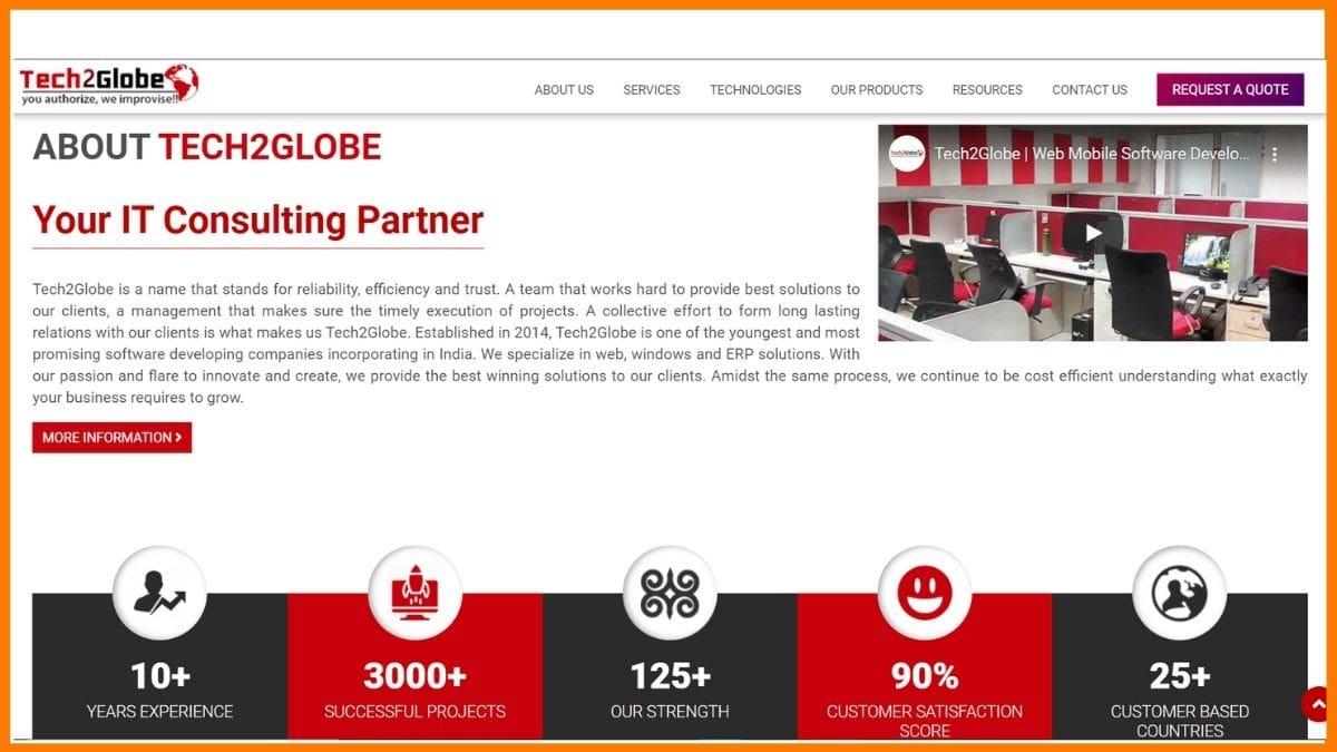 Tech2Globe Website