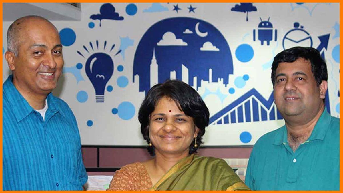 CreditMantri' s Founders - Ranjit Punja, Gowri Mukherjee, and R. Sudarshan