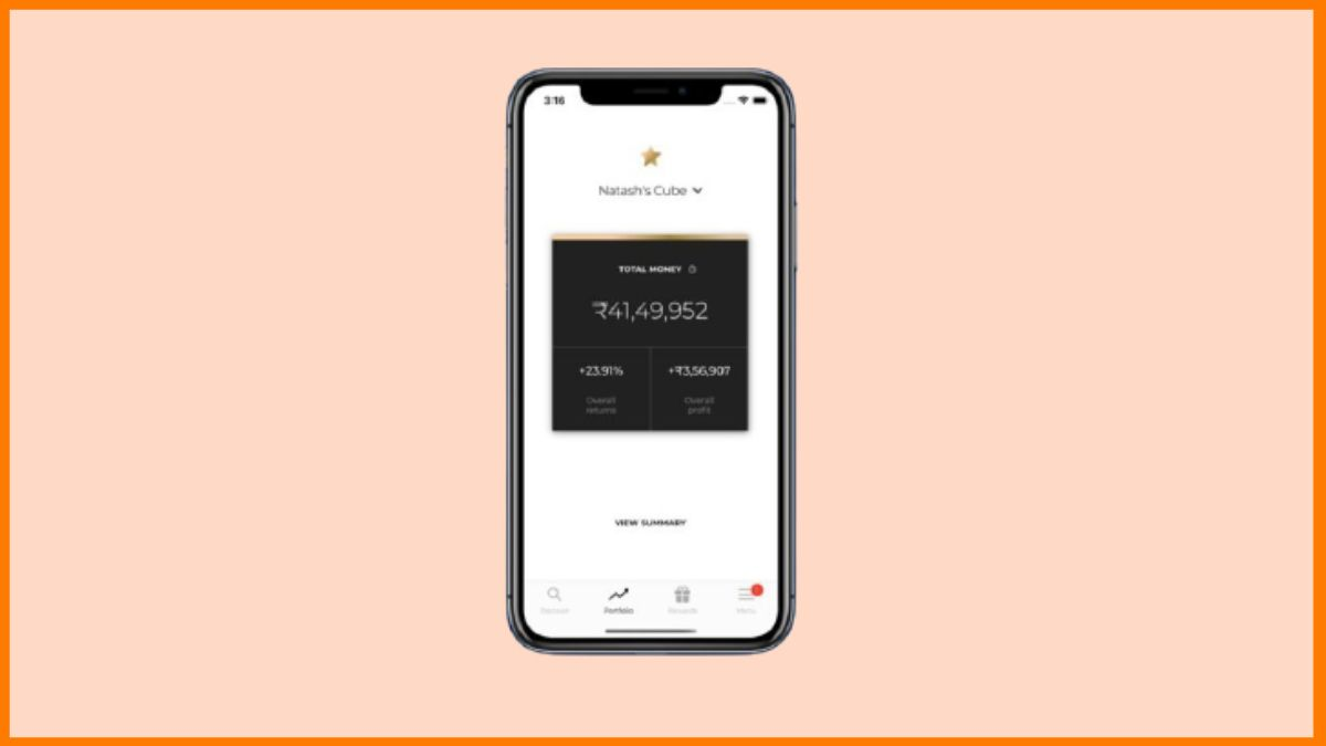 Cube Wealth App Screenshots
