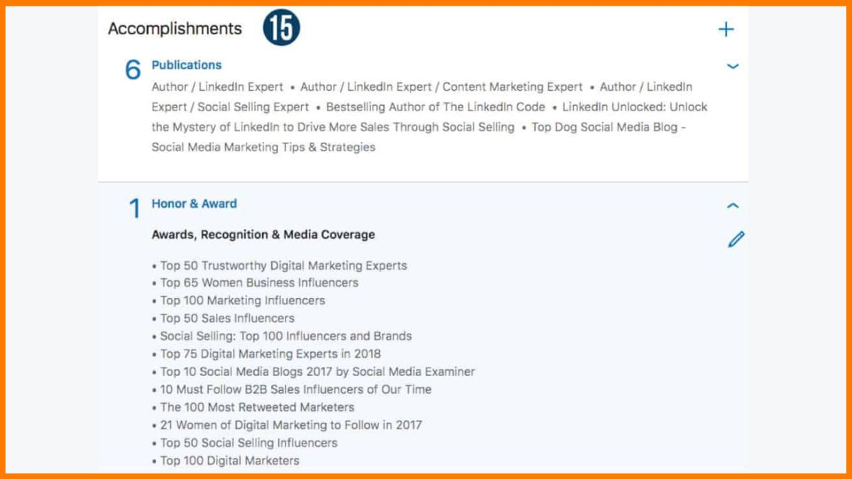 Engagements on LinkedIn