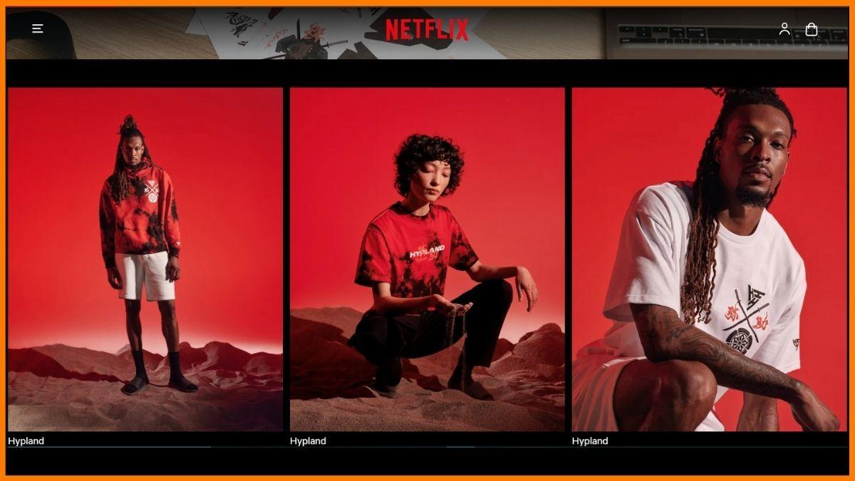 Netflix Shop website