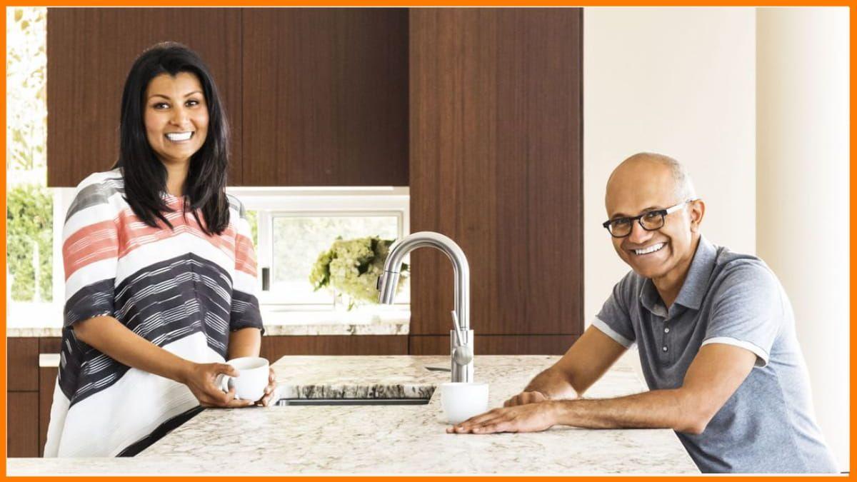 Satya Nadella with Anupama Nadella