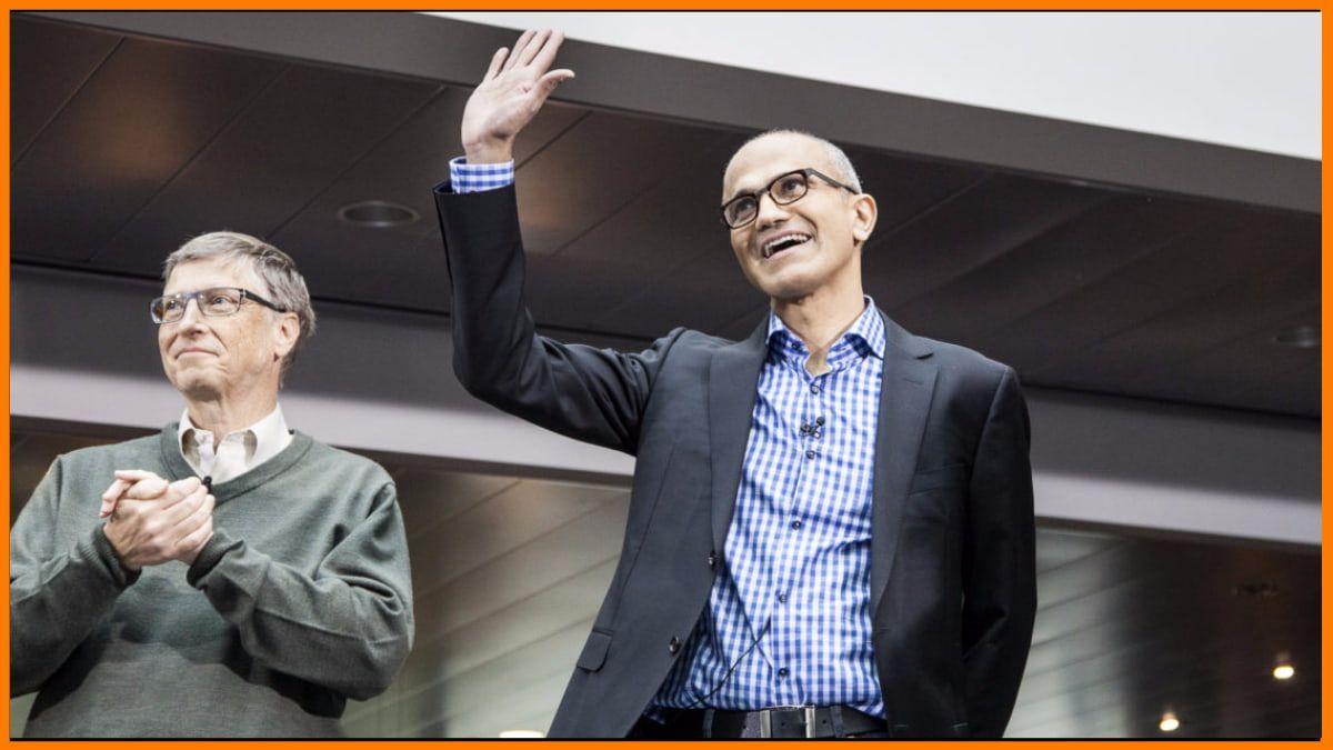 Bill Gates with Satya Nadella