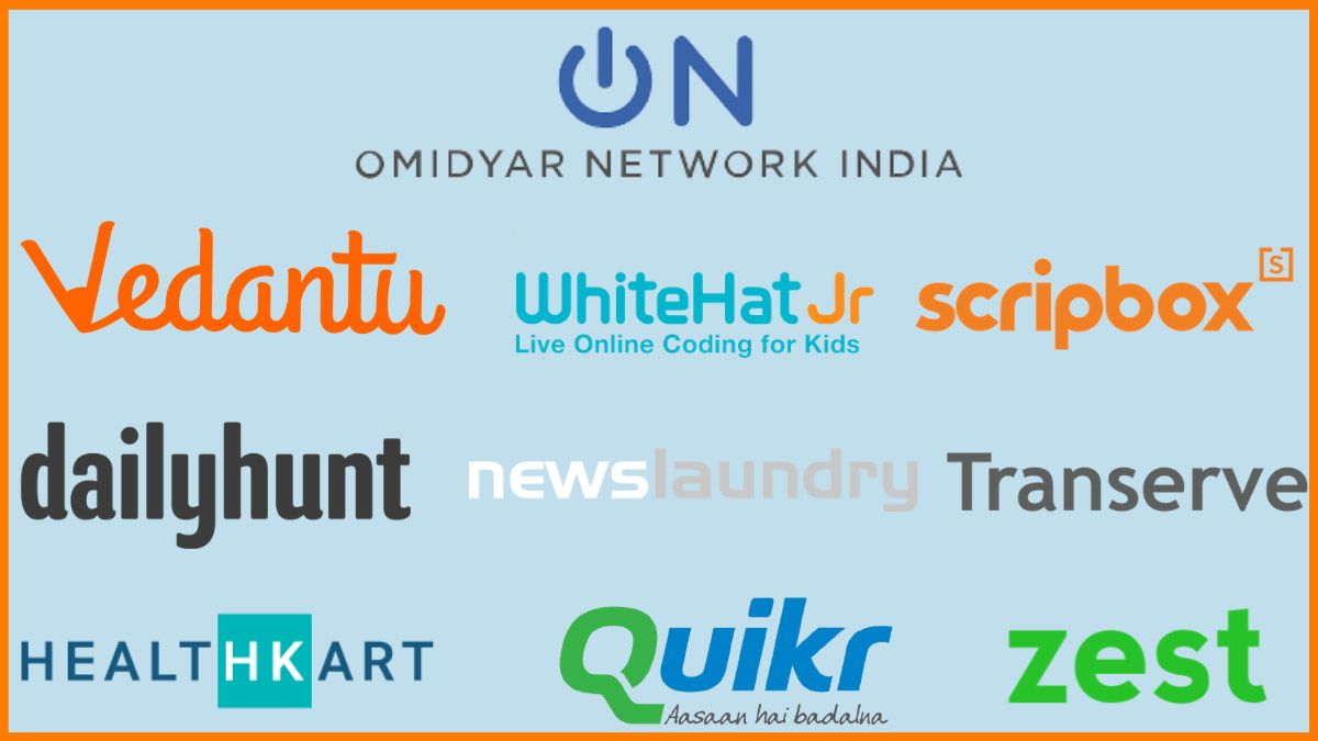 Startups Funded by Omidyar Network India