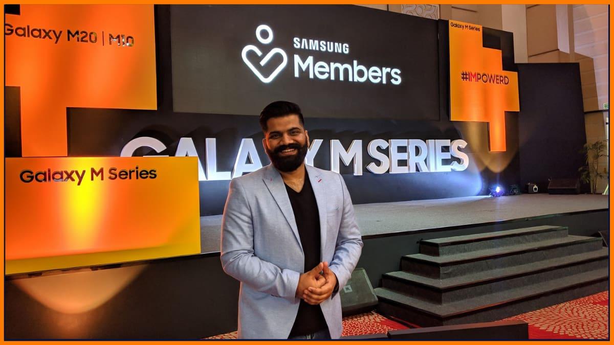 Technical Guruji at Samsung Smartphone Launch