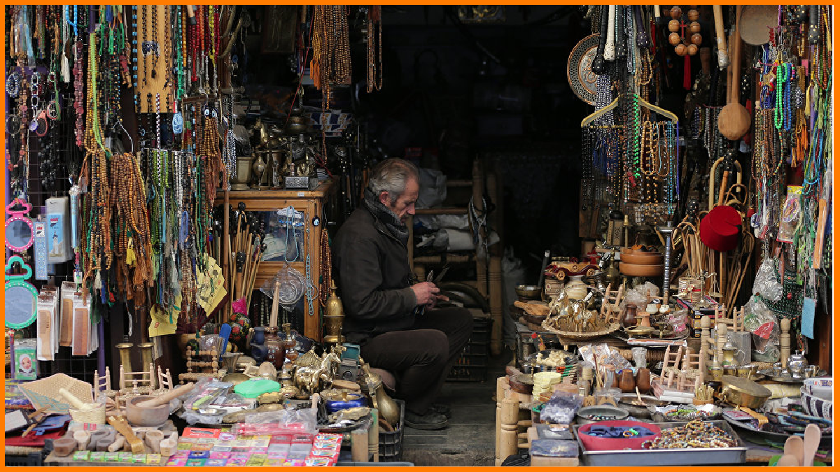 A traditional arts and crafts store
