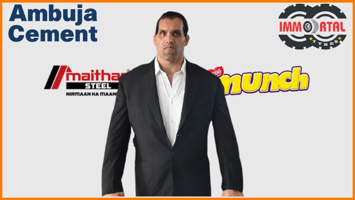 List of Brands Endorsed By The Great Khali