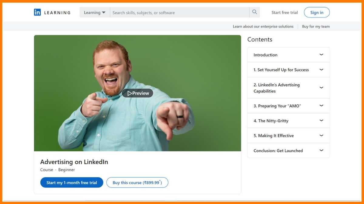 Advertising on LinkedIn