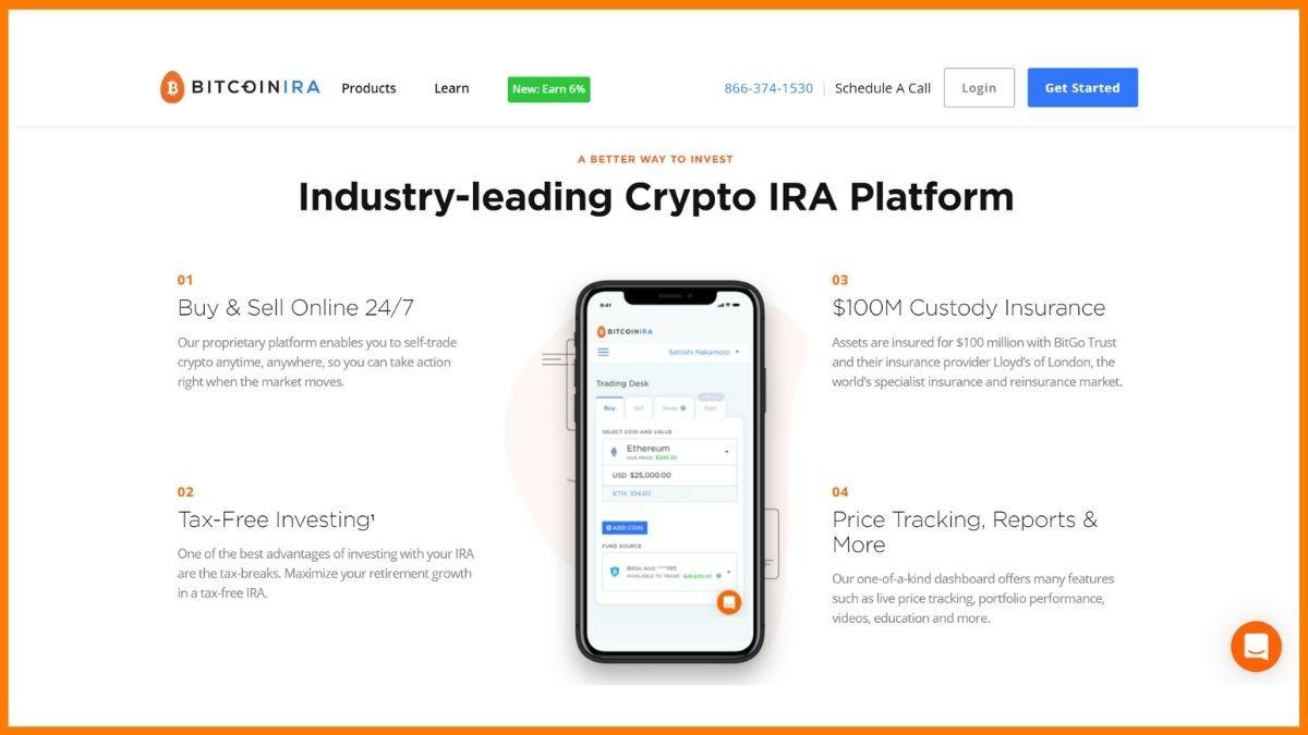 BitcoinIRA Website