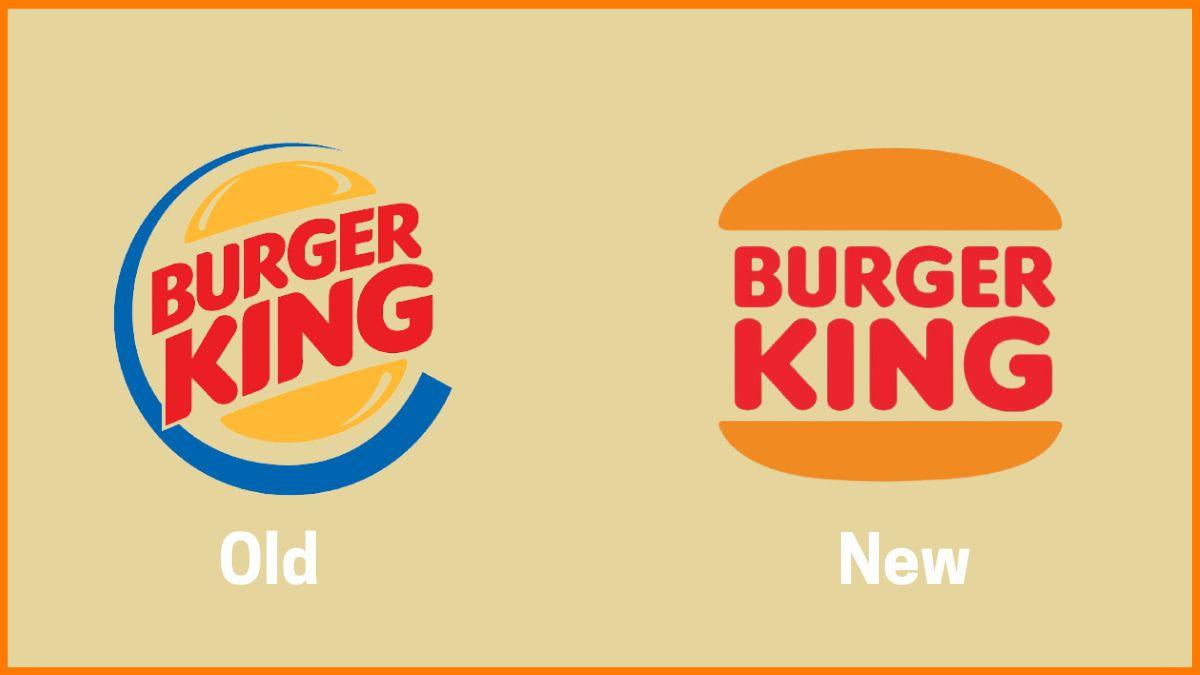 Burger King Old vs New Logo