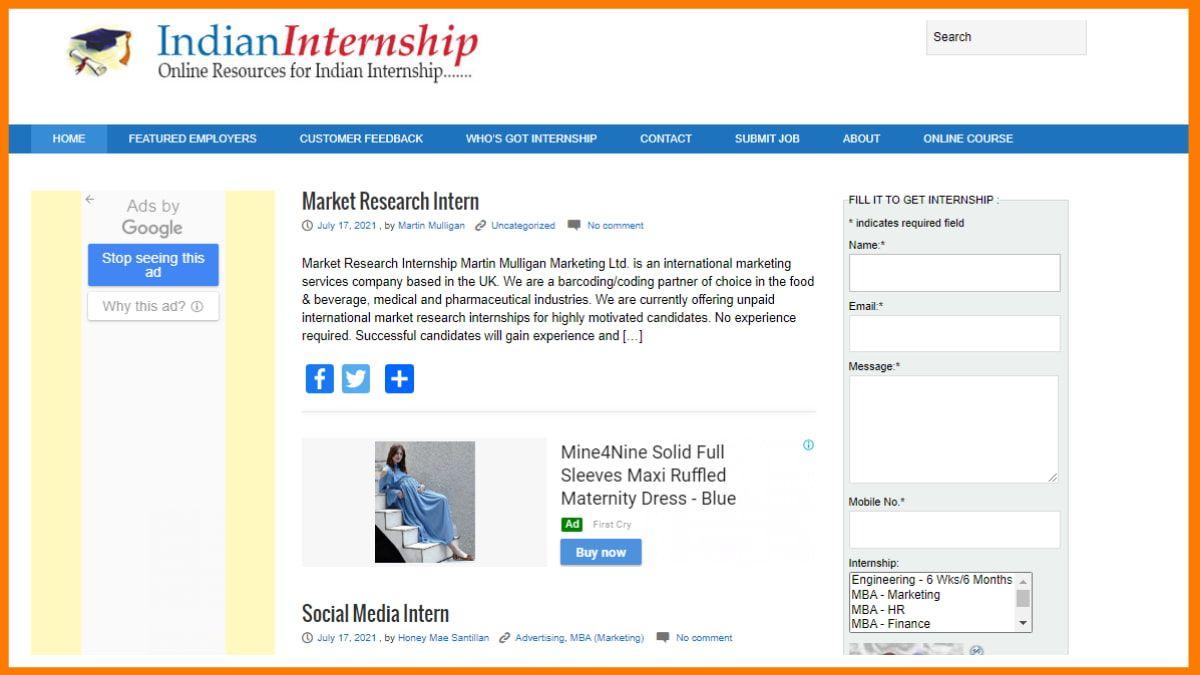 IndianInternship | best internship sites