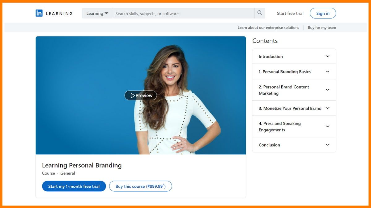 Learning Personal Branding