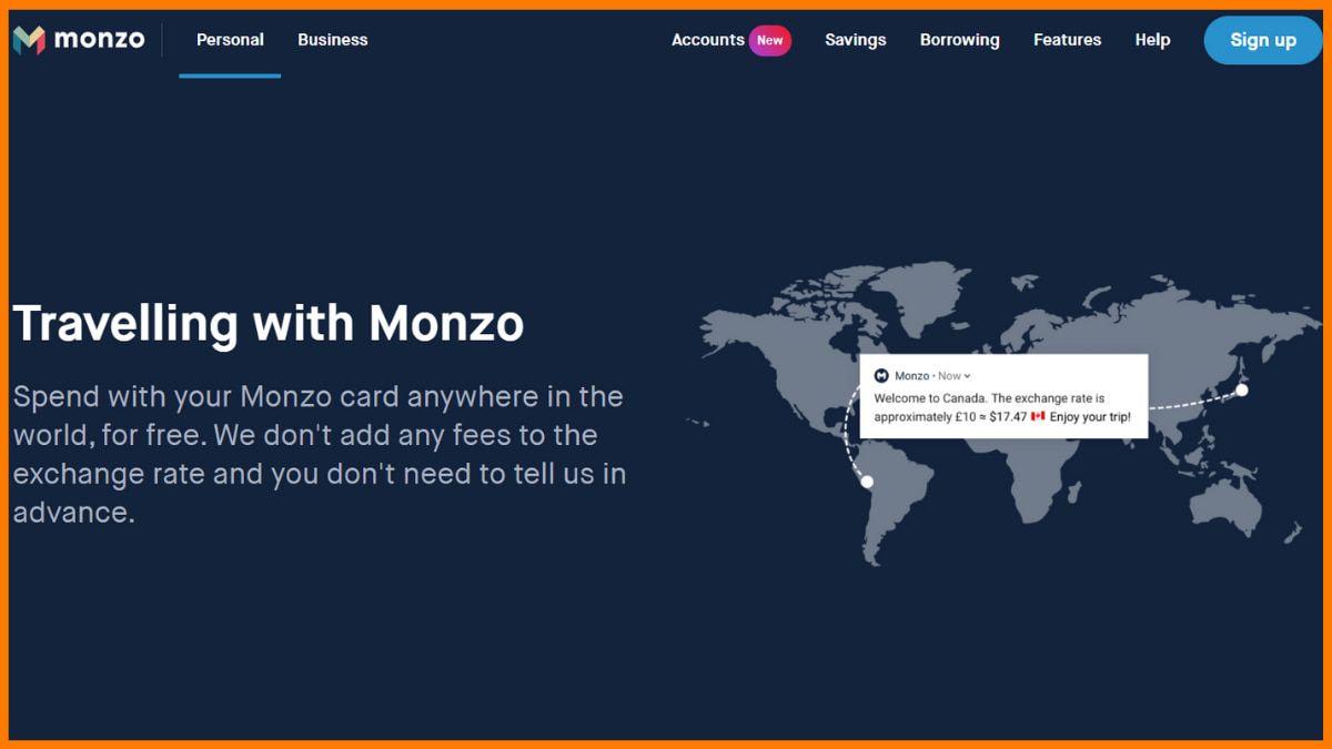 Monzo Website