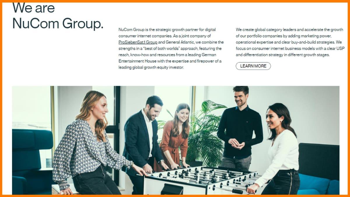 NuCom Group Website